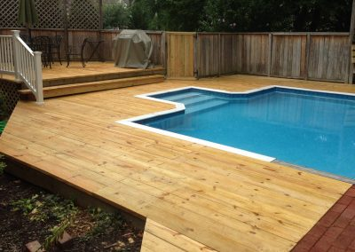 Family resort deck