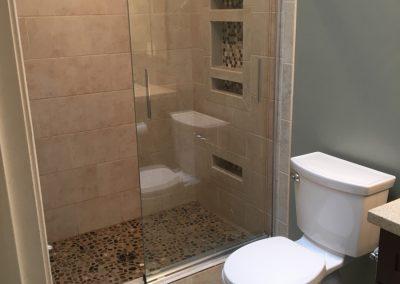 Custom shower with extensive tilework