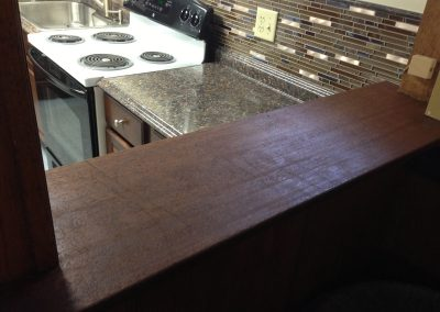 Granite installation and custom wall separation