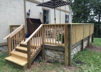 Patio renovation stairs