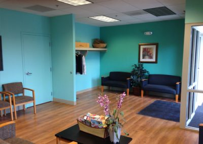 Doctor's reception area